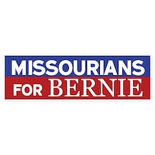 Missourians for Bernie Bumper Bumper Sticker