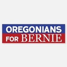Oregonians for Bernie Bumper Bumper Bumper Sticker