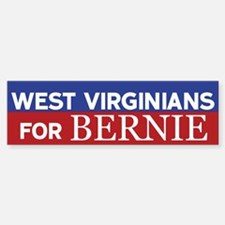 West Virginians for Bernie Bumper Bumper Bumper Sticker