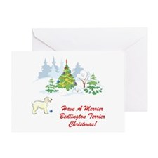 Bedlington Terrier Christmas Greeting Card