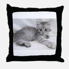 Miakira Siberian Kittens Throw Pillow