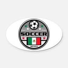 Live Love Soccer Mexico Oval Car Magnet