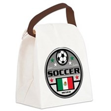 Live Love Soccer Mexico Canvas Lunch Bag