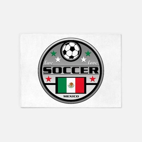 Live Love Soccer Mexico 5'x7'Area Rug