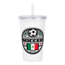 Live Love Soccer Mexic Acrylic Double-wall Tumbler