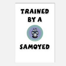 Trained by a Samoyed Postcards (Package of 8)