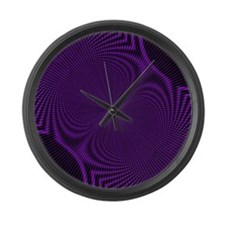 Psychedelic Hypnotic Hippy Large Wall Clock