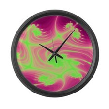 Psychedelic Trip Hippy Large Wall Clock