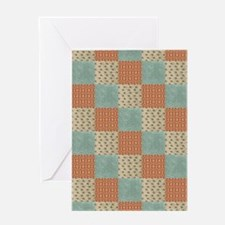 Floral Patchwork Pattern Greeting Cards