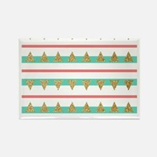 Mint Coral gold Triangle Stripes Magnets