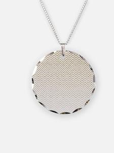 Gold Sparkle Ombre Chevron Stripes Necklace