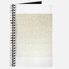 Gold Sparkle Ombre Chevron Stripes Journal