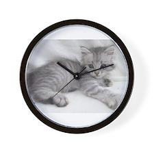 Unique Siberian cat Wall Clock