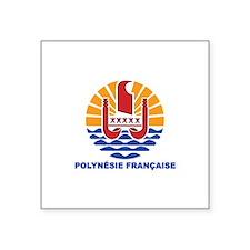"""Cute Francais Square Sticker 3"""" x 3"""""""