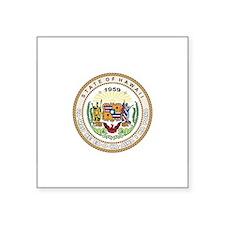 """Unique State seal Square Sticker 3"""" x 3"""""""