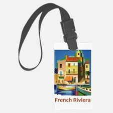 French Riviera ~ Vintage Travel Luggage Tag
