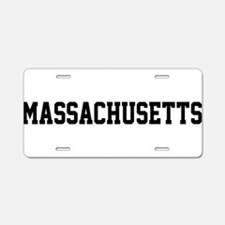 Massachusetts Jersey Font Aluminum License Plate