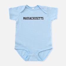 Massachusetts Jersey Font Infant Bodysuit