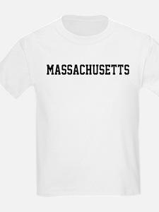Massachusetts Jersey Font T-Shirt