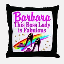 CUSTOM BOSS LADY Throw Pillow