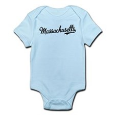 Massachusetts Script Font Infant Bodysuit