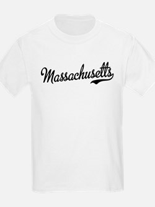 Massachusetts Script Font T-Shirt