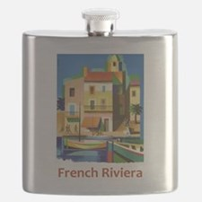 French Riviera ~ Vintage Travel Flask