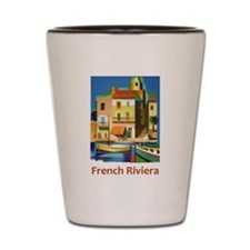 French Riviera ~ Vintage Travel Shot Glass