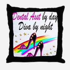 CHIC DENTAL ASST Throw Pillow