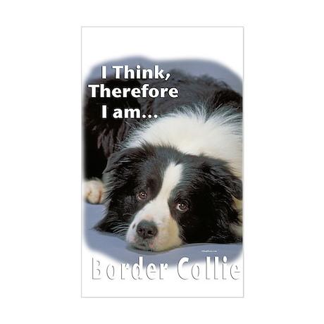 Border Collie-3 Rectangle Sticker