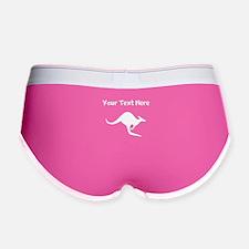 Custom Kangaroo Silhouette Women's Boy Brief