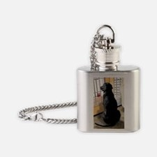 Ajax Watches the World Go By Flask Necklace