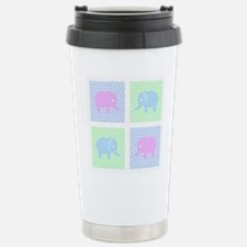 Elephants pastel square Travel Mug