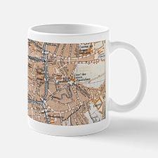 Vintage Map of Bruges (1905) Mugs