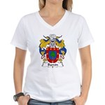 Barron Family Crest Women's V-Neck T-Shirt