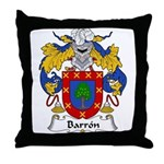 Barron Family Crest Throw Pillow