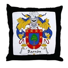 Barron Family Crest Throw Pillow