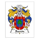 Barron Family Crest Small Poster