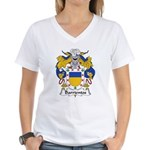 Barrientos Family Crest Women's V-Neck T-Shirt