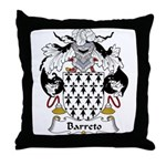 Barreto Family Crest Throw Pillow