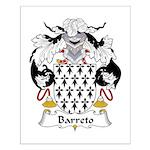Barreto Family Crest Small Poster