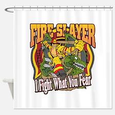 Fire Slayer Firefighter Shower Curtain