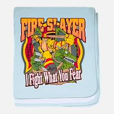 Fire Slayer Firefighter baby blanket