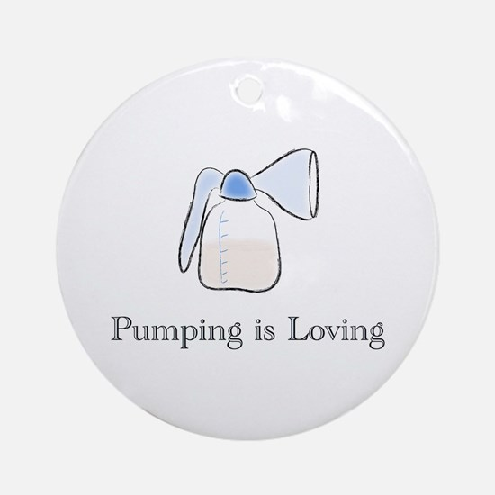 pumping.png Round Ornament