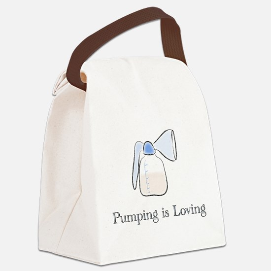 pumping.png Canvas Lunch Bag