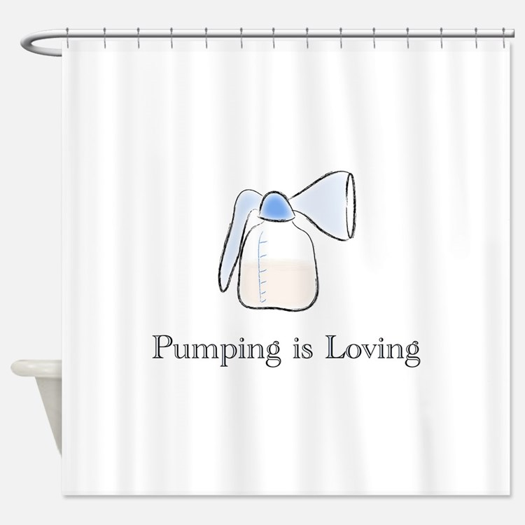 pumping.png Shower Curtain