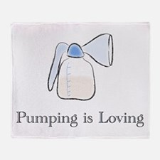 pumping.png Throw Blanket