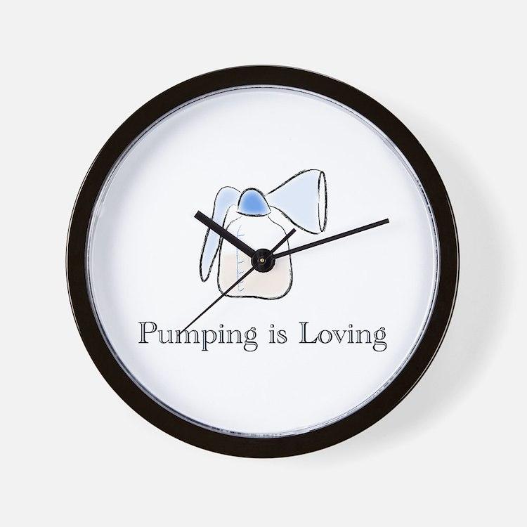 pumping.png Wall Clock