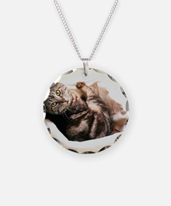 Tabby in Basket Necklace