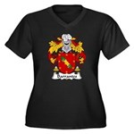 Barrantes Family Crest Women's Plus Size V-Neck Da